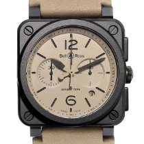 Bell & Ross Ceramic Automatic Champagne Arabic numerals 42mm new BR 03-94 Chronographe