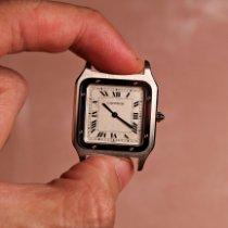 Cartier Платина Механические Белый Римские 27mm подержанные Santos Dumont