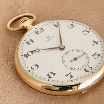 Omega Omega Gold Pocket Watch Very good Yellow gold 47mm Manual winding