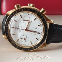 Omega Yellow gold Chronograph White No numerals pre-owned Speedmaster Reduced