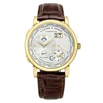 A. Lange & Söhne Yellow gold Manual winding Silver 41.9mm pre-owned Lange 1