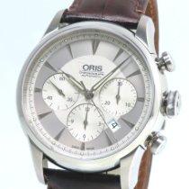 Oris Artelier Chronograph Steel 43.5mm Silver No numerals
