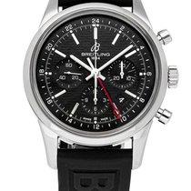 Breitling Transocean Chronograph GMT Acero 43mm Negro Sin cifras