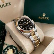 Rolex Explorer Goud/Staal 36mm Zwart Arabisch Nederland, Maastricht