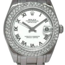 Rolex Lady-Datejust Pearlmaster pre-owned 29mm White Date White gold