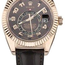 Rolex Sky-Dweller Pозовое золото 43mm Коричневый