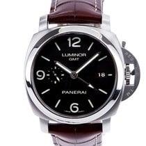 Panerai Luminor 1950 3 Days GMT Automatic Сталь 44mm Черный Aрабские
