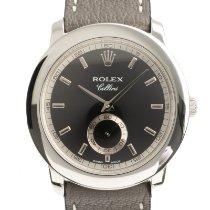 Rolex Cellini подержанные 38mm Черный Кожа