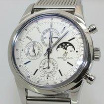 Breitling Transocean Chronograph 1461 Acero 43mm Plata