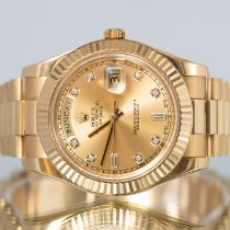 Rolex Day-Date II Yellow gold 41mm Gold Roman numerals United Kingdom, Newcastle Upon Tyne