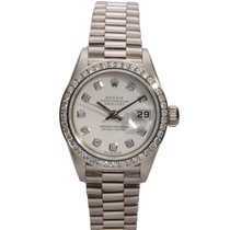 Rolex 79179 Or blanc 1998 Lady-Datejust 26mm occasion