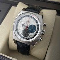 Zenith El Primero New Vintage 1969 pre-owned 40mm White Chronograph Date Crocodile skin