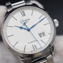 Glashütte Original Senator Excellence pre-owned 40mm Silver Panorama date Date Steel