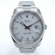 Rolex Oyster Perpetual Date Stal 34mm Biały Bez cyfr