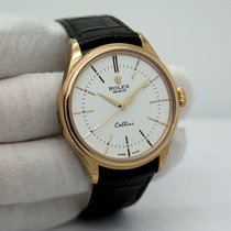Rolex Cellini Time Oro rosa 39mm Negro Sin cifras