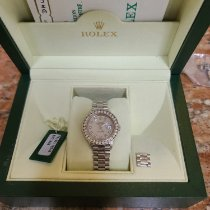 Rolex Platinum Mother of pearl pre-owned Lady-Datejust