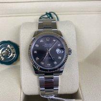Rolex Lady-Datejust Staal 31mm Grijs Geen cijfers