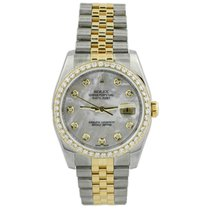 Rolex pre-owned Automatic 36mm Mother of pearl Sapphire crystal 10 ATM