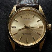 勞力士 Oyster Perpetual 34 二手 34mm 金色 皮