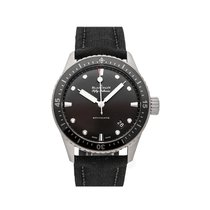 Blancpain Fifty Fathoms Bathyscaphe pre-owned 43mm Grey Date Textile