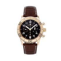 Breguet Rose gold Automatic Black 39mm pre-owned Type XX - XXI - XXII