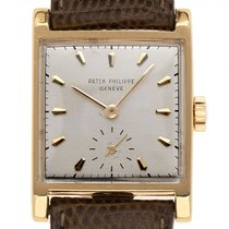 Patek Philippe Vintage Yellow gold 34mm Silver