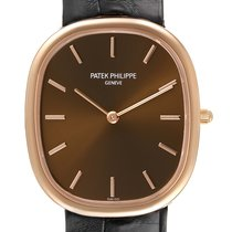 Patek Philippe Rose gold Automatic Brown 31.1mm pre-owned Golden Ellipse