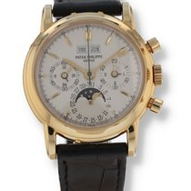 Patek Philippe Perpetual Calendar Chronograph Yellow gold 36mm Silver United States of America, New Hampshire, Nashua