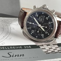 Sinn 358 pre-owned 42mm Black Double-fold clasp