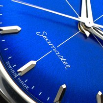 Omega pre-owned Manual winding 33mm Blue Plastic Not water resistant