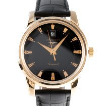 Longines Conquest Heritage Yellow gold 40mm Black