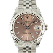 Rolex (ロレックス) レディース デイトジャスト 新品 2021 自動巻き 正規のボックスと正規の書類付属の時計 278274