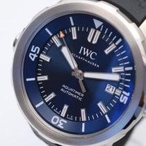 IWC Aquatimer Automatic gebraucht 42mm Blau Datum Kautschuk