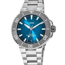 Oris Steel Automatic Blue new Aquis Date