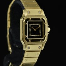 Cartier Santos Galbée Oro giallo 24mm Nero Senza numeri Italia, Milano