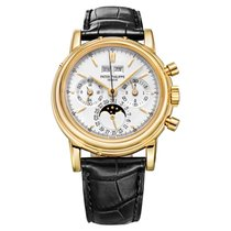 Patek Philippe Perpetual Calendar Chronograph Yellow gold 36mm White United States of America, Connecticut, Greenwich