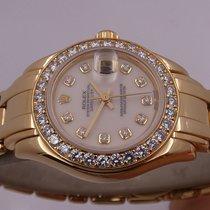 Rolex Lady-Datejust Pearlmaster 69298 Sehr gut Gelbgold 29mm Automatik