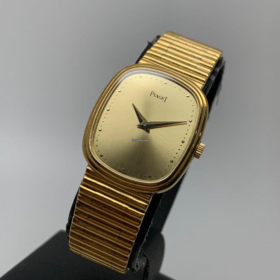 Piaget 18K Gold Lady Oval Diamonds 5mm Mechanical Ultra slim