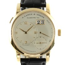 A. Lange & Söhne Yellow gold Manual winding Silver 38.5mm pre-owned Lange 1
