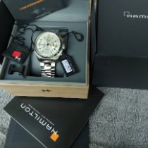Hamilton Khaki Pilot Pioneer pre-owned 41mm Champagne Chronograph Date Steel