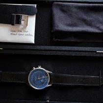 NOMOS Zürich Weltzeit Steel Blue No numerals United States of America, Indiana, goshen