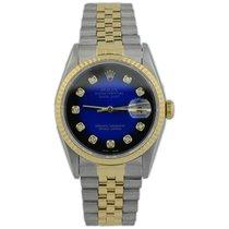 Rolex Datejust Gold/Steel 36mm Blue No numerals United States of America, California, Fullerton