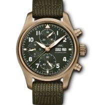 IWC Bronze Automatic Green Arabic numerals 41mm new Pilot Spitfire Chronograph