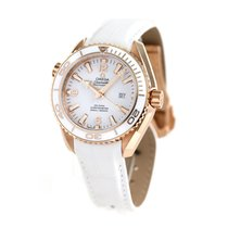 Omega Red gold Automatic White 43.5mm new Seamaster Planet Ocean