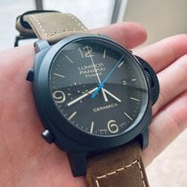 Panerai Luminor 1950 3 Days Chrono Flyback pre-owned 44mm Black Chronograph Date Leather