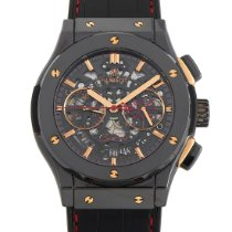 Hublot Classic Fusion pre-owned 45mm Transparent Chronograph Date Leather