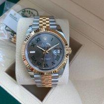 Rolex Datejust Gold/Steel 41mm Grey Roman numerals Australia, 6005