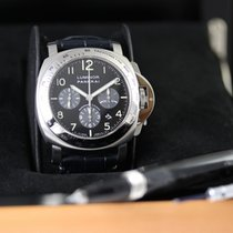 Panerai Luminor occasion 44mm Noir Chronographe Date Cuir