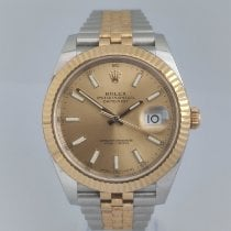 Rolex Datejust Gold/Steel 41mm Champagne No numerals India, Mumbai,