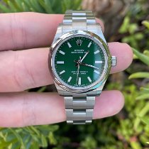 Rolex Oyster Perpetual 31 pre-owned 31mm Green Steel